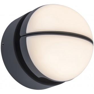 LUTEC 5199001118 | Eklipings Lutec zidna svjetiljka elementi koji se mogu okretati 1x LED 1000lm 3000K IP54 tamno siva, opal