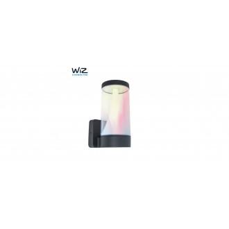 LUTEC 5271002118 | WiZ-Spica Lutec zidna WiZ smart rasvjeta jačina svjetlosti se može podešavati, sa podešavanjem temperature boje, promjenjive boje, elementi koji se mogu okretati, spajanje na Wi-Fi 1x LED 1000lm 2200 <-> 6500K IP54 tamno siva, opa