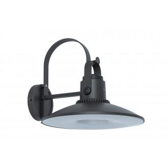 LUTEC 5274601412 | Darli Lutec zidna svjetiljka zvučnik, Bluetooth 1x LED 1500lm 3000K IP44 tamno siva, opal