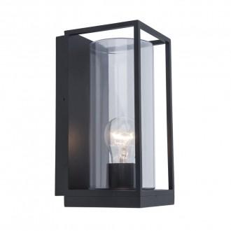 LUTEC 5288803012 | Flair Lutec zidna svjetiljka 1x E27 IP44 crno mat, prozirno