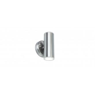 LUTEC 5510805001 | Luca-LU Lutec zidna svjetiljka 1x LED 1000lm 3000K IP44 plemeniti čelik, čelik sivo, prozirno