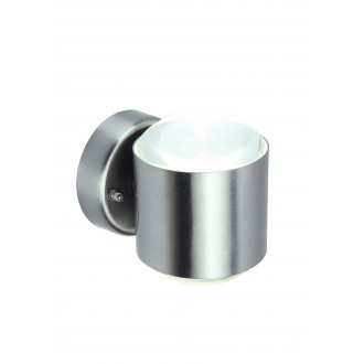 LUTEC 5521201001 | Crystal-LU Lutec zidna svjetiljka 1x LED 660lm 3000K IP44 plemeniti čelik, čelik sivo, prozirno