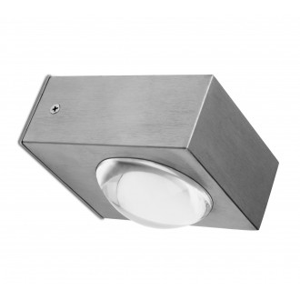 LUTEC 5521601001 | Crystal-LU Lutec zidna svjetiljka 1x LED 660lm 3000K IP44 plemeniti čelik, čelik sivo, prozirno
