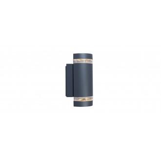 LUTEC 5604011118 | Focus-LUT Lutec zidna svjetiljka 2x GU10 IP44 antracit siva, prozirno