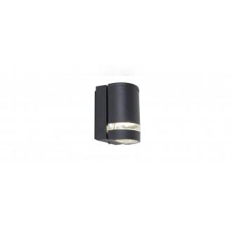 LUTEC 5604101118 | Focus-LUT Lutec zidna svjetiljka 1x GU10 IP44 antracit siva, prozirno