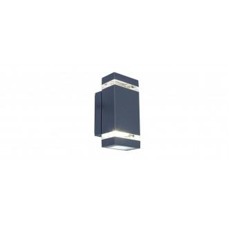 LUTEC 5605013118 | Focus-LUT Lutec zidna svjetiljka 1x LED 300lm 4000K IP44 antracit siva, prozirno