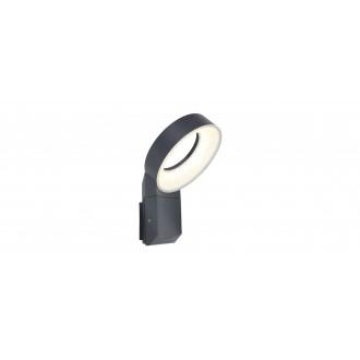 LUTEC 5616302118 | Meridian Lutec zidna svjetiljka 1x LED 800lm 3000K IP54 antracit siva