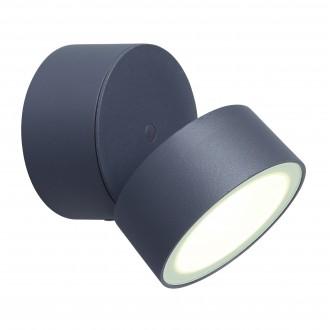 LUTEC 5626001118 | Trumpet-LU Lutec zidna svjetiljka elementi koji se mogu okretati 1x LED 850lm 4000K IP54 antracit siva