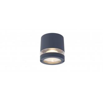 LUTEC 6304201118 | Focus-LUT Lutec stropne svjetiljke svjetiljka 1x GU10 IP44 tamno sivo, prozirno
