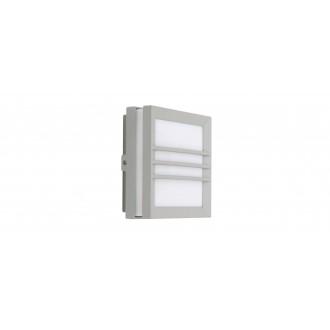 LUTEC 6334102112 | Seine Lutec zidna, stropne svjetiljke svjetiljka 1x LED 150lm 3000K IP54 srebrna siva, opal