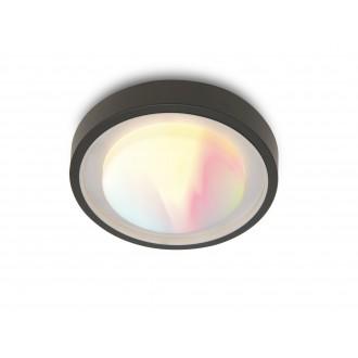 LUTEC 6335142118 | WiZ-Origo Lutec zidna, stropne svjetiljke WiZ smart rasvjeta jačina svjetlosti se može podešavati, sa podešavanjem temperature boje, promjenjive boje, elementi koji se mogu okretati, spajanje na Wi-Fi 1x LED 1000lm 2200 <-> 6500K