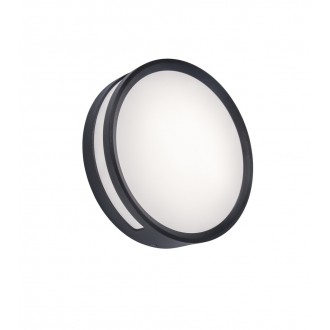 LUTEC 6382201118 | Rola Lutec stropne svjetiljke svjetiljka 1x LED 800lm 3000K IP54 tamno siva, opal