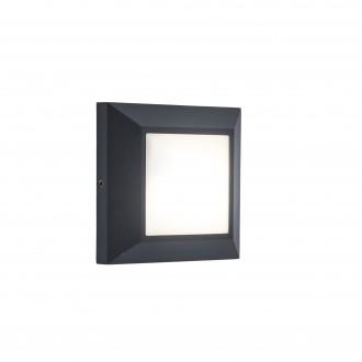 LUTEC 6402101118 | Helena-LU Lutec zidna svjetiljka 1x LED 500lm 4000K IP54 tamno siva, opal