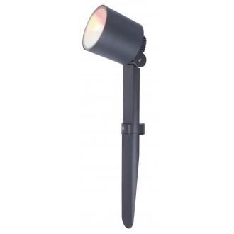 LUTEC 6609205118 | WiZ-Explorer Lutec ubodne svjetiljke WiZ smart rasvjeta jačina svjetlosti se može podešavati, sa podešavanjem temperature boje, promjenjive boje, elementi koji se mogu okretati, spajanje na Wi-Fi 1x LED 430lm 2200 <-> 6500K IP54 t