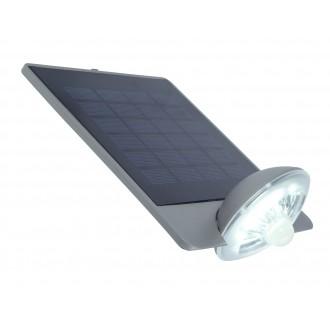 LUTEC 6901301337 | Pole_Drop_Bread_Zeta Lutec zidna svjetiljka sa senzorom, s prekidačem solarna baterija, elementi koji se mogu okretati 1x LED 240lm 4000K IP44 srebrna siva, prozirno