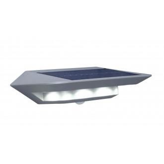 LUTEC 6901401337 | Ghost-Solar Lutec zidna svjetiljka sa senzorom, s prekidačem solarna baterija 1x LED 260lm 4000K IP44 srebrna siva, prozirno