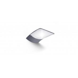 LUTEC 6903401000 | Zerta Lutec zidna svjetiljka solarna baterija 1x LED 200lm 4000K IP44 srebrna siva, prozirno