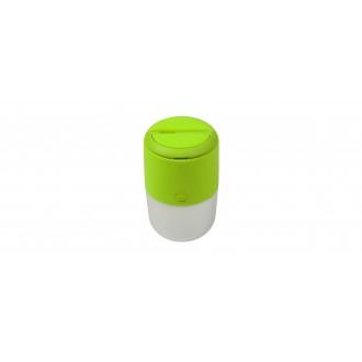 LUTEC 6903503339 | Bump Lutec nosiva, stolna, visilice svjetiljka sa tiristorski dodirnim prekidačem solarna baterija, jačina svjetlosti se može podešavati, USB utikač, s podešavanjem visine 1x LED 100lm 4000K IP44 zeleno, opal