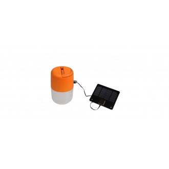 LUTEC 6903503340 | Bump Lutec nosiva, stolna, visilice svjetiljka sa tiristorski dodirnim prekidačem solarna baterija, jačina svjetlosti se može podešavati, USB utikač, s podešavanjem visine 1x LED 100lm 4000K IP44 narančasto, opal