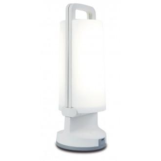 LUTEC 6904101331 | Dragonfly-LU Lutec nosiva, stolna svjetiljka sa tiristorski dodirnim prekidačem solarna baterija, jačina svjetlosti se može podešavati, USB utikač, elementi koji se mogu okretati 1x LED 120lm 4000K IP54 bijelo, opal