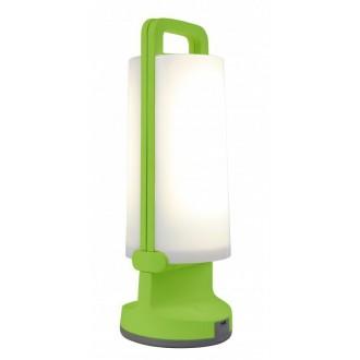 LUTEC 6904101339 | Dragonfly-LU Lutec nosiva, stolna svjetiljka sa tiristorski dodirnim prekidačem solarna baterija, jačina svjetlosti se može podešavati, USB utikač, elementi koji se mogu okretati 1x LED 120lm 4000K IP54 zeleno, opal