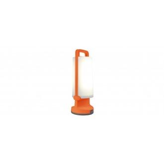 LUTEC 6904101340 | Dragonfly-LU Lutec nosiva, stolna svjetiljka sa tiristorski dodirnim prekidačem solarna baterija, jačina svjetlosti se može podešavati, USB utikač, elementi koji se mogu okretati 1x LED 120lm 4000K IP54 narančasto, opal