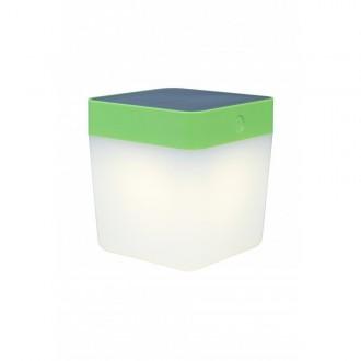 LUTEC 6908001339 | Table-Cube Lutec nosiva, stolna svjetiljka sa tiristorski dodirnim prekidačem solarna baterija, jačina svjetlosti se može podešavati 1x LED 100lm 3000K IP44 zeleno, opal
