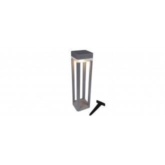 LUTEC 6908002337 | Table-Cube Lutec nosiva, ubodne svjetiljke, podna svjetiljka sa tiristorski dodirnim prekidačem solarna baterija, jačina svjetlosti se može podešavati, s podešavanjem visine 1x LED 100lm 3000K IP44 srebrna siva, prozirno