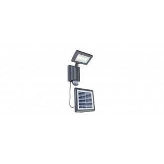 LUTEC 6910101118 | Nevada-LU Lutec reflektor svjetiljka sa senzorom, svjetlosni senzor - sumračni prekidač solarna baterija, elementi koji se mogu okretati 1x LED 450lm 4000K IP44 antracit siva, prozirno