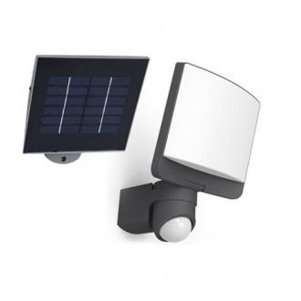 LUTEC 6925601345 | Sunshine Lutec reflektor svjetiljka sa senzorom, svjetlosni senzor - sumračni prekidač solarna baterija, elementi koji se mogu okretati 1x LED 500lm 5000K IP44 antracit siva, opal