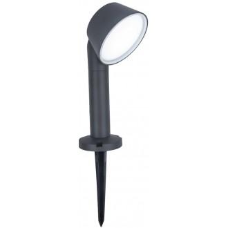 LUTEC 7288602118 | Dakota-LU Lutec ubodne svjetiljke svjetiljka jačina svjetlosti se može podešavati, sa podešavanjem temperature boje, Bluetooth 1x LED 800lm 2700 <-> 6500K IP54 tamno siva, opal