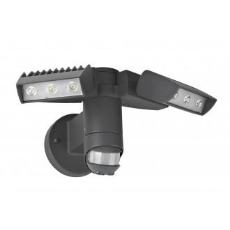 LUTEC 7615601118 | Corn Lutec reflektor svjetiljka sa senzorom, svjetlosni senzor - sumračni prekidač elementi koji se mogu okretati 2x LED 2100lm 4000K IP54 antracit siva