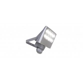 LUTEC 7617002112 | Negara Lutec reflektor svjetiljka sa senzorom, svjetlosni senzor - sumračni prekidač elementi koji se mogu okretati 1x LED 1540lm 4000K IP54 srebrna siva, prozirno
