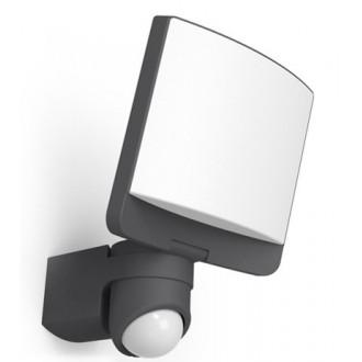 LUTEC 7625601345 | Sunshine Lutec reflektor svjetiljka sa senzorom, svjetlosni senzor - sumračni prekidač elementi koji se mogu okretati 1x LED 1200lm 5000K IP44 antracit siva, opal