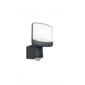 LUTEC 7625701345 | Sunshine Lutec reflektor svjetiljka sa senzorom, svjetlosni senzor - sumračni prekidač elementi koji se mogu okretati 1x LED 800lm 5000K IP44 antracit siva, opal