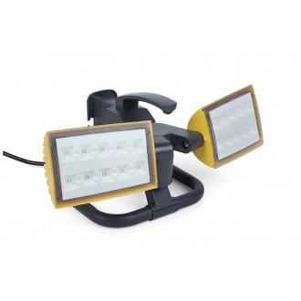 LUTEC 7629301341 | Peri-LU Lutec nosiva reflektor elementi koji se mogu okretati, sa kablom i vilastim utikačem 2x LED 2000lm 5000K IP54 antracit siva, prozirno
