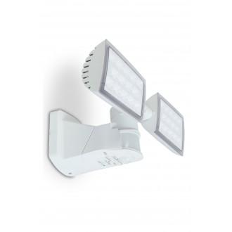 LUTEC 7629401331 | Peri-LU Lutec reflektor svjetiljka sa senzorom, svjetlosni senzor - sumračni prekidač elementi koji se mogu okretati 2x LED 3280lm 5000K IP54 bijelo, prozirno