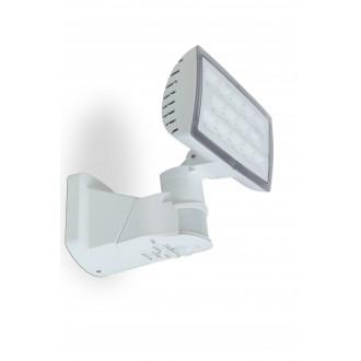 LUTEC 7629501331 | Peri-LU Lutec reflektor svjetiljka sa senzorom, svjetlosni senzor - sumračni prekidač elementi koji se mogu okretati 1x LED 1710lm 5000K IP54 bijelo, prozirno