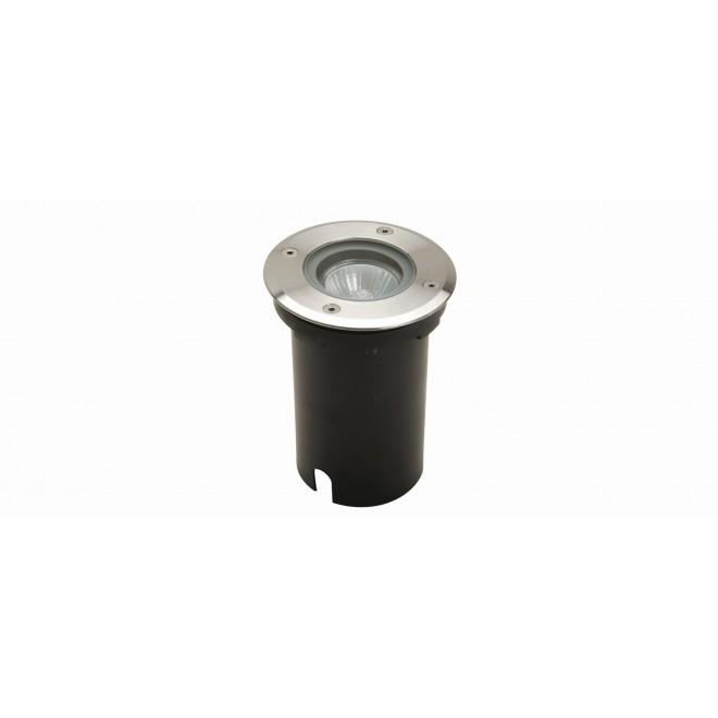 LUTEC 7700511012 | Berlin-LU Lutec ugradbena svjetiljka Ø110mm 1x GU10 IP67 plemeniti čelik, čelik sivo, prozirno