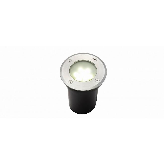 LUTEC 7700513012 | Berlin-LU Lutec ugradbena svjetiljka Ø110mm 1x LED 180lm 4000K IP67 plemeniti čelik, čelik sivo, prozirno