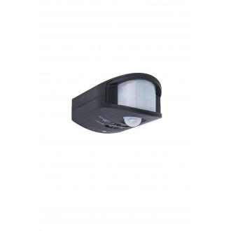 LUTEC 9701501330 | Lutec sa senzorom PIR 270° svjetlosni senzor - sumračni prekidač IP44 crno