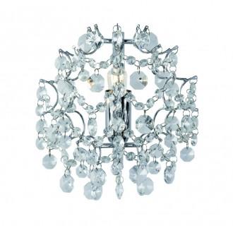 MARKSLOJD 102335 | Rosendal Markslojd zidna svjetiljka 1x E14 krom, kristal
