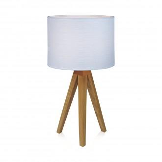 MARKSLOJD 104625 | Kullen Markslojd stolna svjetiljka 44cm sa prekidačem na kablu 1x E14 boja hrasta, bijelo