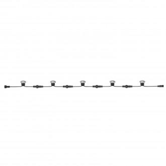 MARKSLOJD 104719 | Tradgard Markslojd ugradbena svjetiljka - start 5x LED 50lm 3000K IP44 čelik, crno