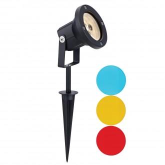MARKSLOJD 104721 | Tradgard Markslojd ubodne svjetiljke svjetiljka elementi koji se mogu okretati 1x LED 300lm 3000K IP44 crno, u bojama