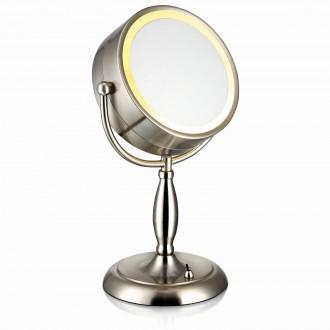 MARKSLOJD 105237 | Face Markslojd stolna zrcalo 36cm s prekidačem 1x E14 čelik, zrcalo