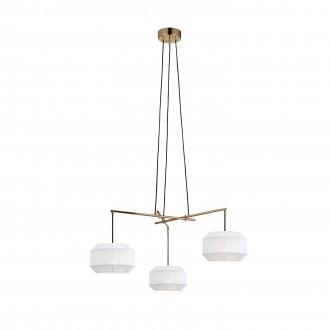 MARKSLOJD 105710 | Corse Markslojd visilice svjetiljka 3x E27 zlatno, bijelo, crno
