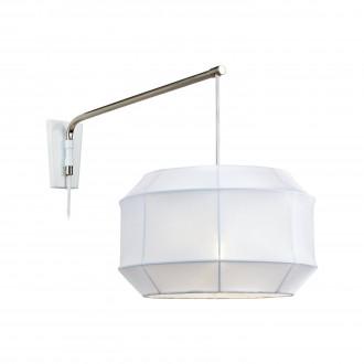 MARKSLOJD 105711 | Corse Markslojd zidna svjetiljka sa prekidačem na kablu 1x E27 čelik, bijelo