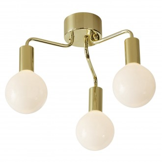 MARKSLOJD 105774 | History Markslojd stropne svjetiljke svjetiljka 3x E27 mesing, opal