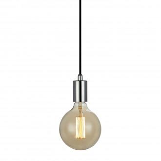 MARKSLOJD 106169 | Sky-MS Markslojd visilice svjetiljka sa prekidačem na kablu 1x E27 krom, crno